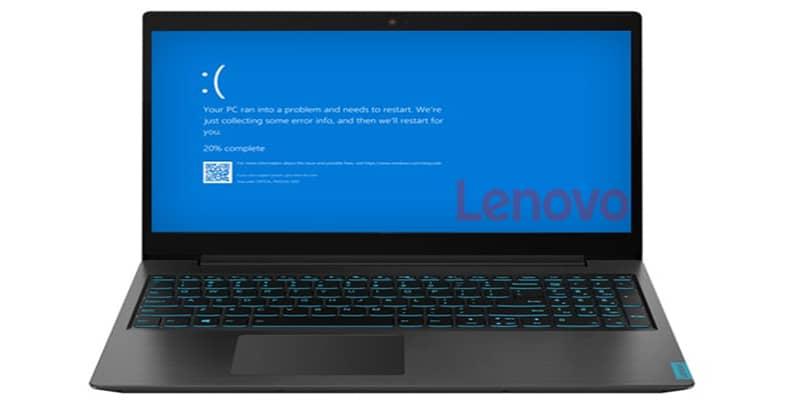 ارور صفحه آبی مرگ ویندوز در لپ تاپ لنوو
